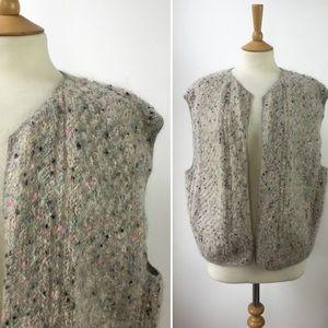 Amazing vintage wool/mohair speckled vest